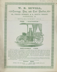 Advert for WR Sewell, carriage & cart builder